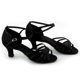 Wanita Sepatu Dansa Latin Ballroom Latin Brillante Sepatu 3 Warnd Hitam Oem Diskon 40
