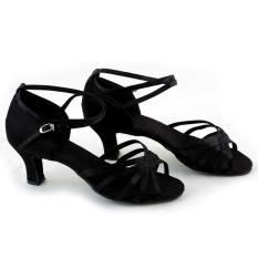 Beli Wanita Sepatu Dansa Latin Ballroom Latin Brillante Sepatu 3 Warnd Hitam Secara Angsuran