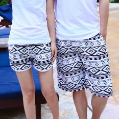 Warna Musim Panas Celana Cargo Beberapa Celana Pendek (Hitam atau Putih Bentuk Berlian Jaringan)