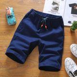 Beli Celana Pendek Kasual Warna Solid Celana Pantai Musim Panas Laki Laki Biru Tua Pake Kartu Kredit