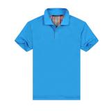 Warna Solid Slim Polo Kemeja Kerah Lengan Pendek T Shirt Spot Warna Biru Di Tiongkok