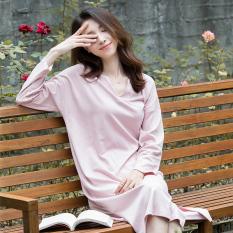 Warna Topotecan Katun Sederhana Bisa Dipakai Di Luar Baju Rumah Gaun Tidur (TIDAK TIDAK + Sinaber Merah)