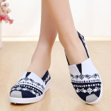 Promo Toko Warna Warni Beijing Tua Flat Shoes Sepatu Musim Semi Single Sepatu Wanita 54X250 Lan Tiga Kali India