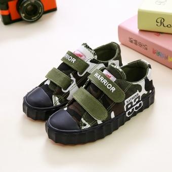Beli sekarang 2017 musim gugur model baru Produk Asli Warrior Sepatu anak anak-anak Sepatu kanvas stiker casual Pria dan wanita anak perempuan sepatu ...