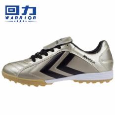 Warrior Soccer Sepatu Pria Profesional Boots Dewasa Pelatihan Sepak Bola Sepatu Flat-bottomed Sepatu Olahraga Pria Rusak Lonjakan Siswa Kompetisi-Emas-Intl