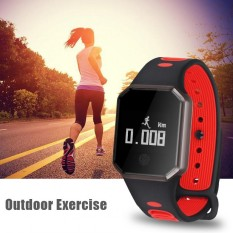 Waterproof Heart Rate Sleeping Monitor Fitness Tracker Smart Band Wristband Bracelet(Red) - intl