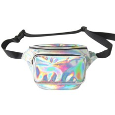 Spesifikasi Laser Tahan Air F*Nny Pack Pu Hologram Laser Hip Pinggang Packs Women Belt Bag Travel Kasir Model Kantong Silver Intl Yang Bagus Dan Murah