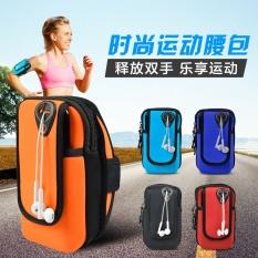 Tahan Air Wrist Kantong Dompet Pouch Running Bag ARM Wrist Band Hand Olahraga Mobile Phone Case (Ukuran: 15.5x9 Cm, Warna: Merah)-Intl