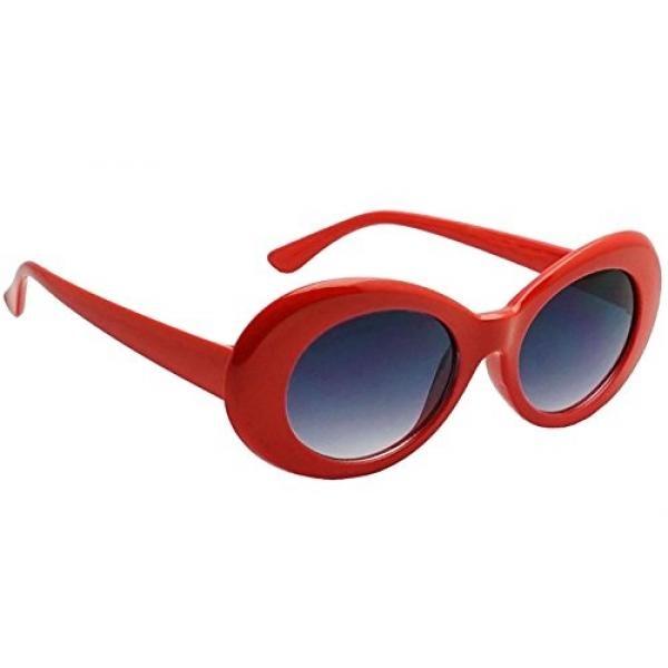 Beli sekarang Webdeals-Lonjong Sepanjang Retro Kacamata Hitam Lonjong Warna Warna atau Lensa Asap Clout