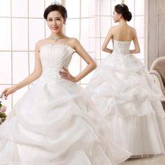 Pernikahan Gaun Ball Gown Bridal Gowns Renungkan Kembali Mewah Kristal Pernikahan Gaun untuk Brides-Intl