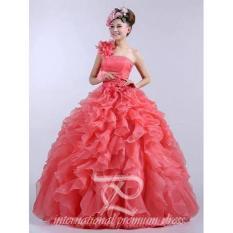 Model Wedding Dress Import Rumbai Salem Peach Terbaru