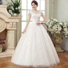 Pernikahan Gaun Putih Pernikahan Romantis Gaun Modis Bride-Intl