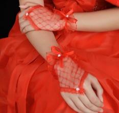Promo Pernikahan Sarung Tangan Mengungkapkan Jari Renda Sarung Tangan Pengantin Pendek Sarung Tangan Merah Intl Oem Terbaru