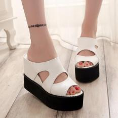 Jual Wedges Bolong At21 Putih Larisa Store Original