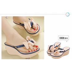 Spesifikasi Wedges Sandal V202 Cream Harga Special Jiaselin
