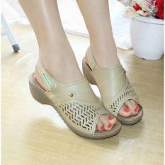 Review Wedges Sepatu Sendal Laser Mulan Bcn1562 Terbaru
