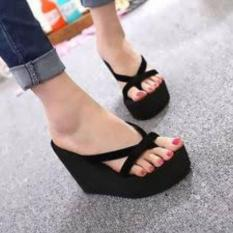 Sendal Wedges Alf-SponX-Black-3640