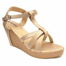Model Wedges Women S Princess Party Shoes Gold Metalic Terbaru