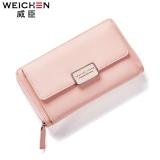 Diskon Weichen Fashion Dompet Wanita Berkapasitas Besar Rantai Telepon Seluler Tas Panjang Gaya Dompet Pink Intl Tiongkok