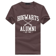 Weiliang Hogwarts Terinspirasi Siswa Magic Pendek T-Shirt untuk Mens American Apparel Kaos Lucu Cokelat-Internasional