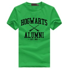 Weiliang Hogwarts Terinspirasi Siswa Magic Pendek T-Shirt untuk Mens American Apparel Kaos Lucu Hijau-Intl