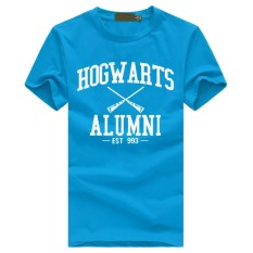 Weiliang Hogwarts Terinspirasi Siswa Magic Pendek T-Shirt untuk Mens American Apparel Kaos Lucu Biru Muda-Internasional