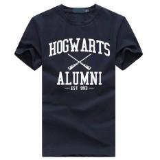 Weiliang Hogwarts Terinspirasi Siswa Magic Kaos Pendek untuk Mens American Apparel Kaos Lucu Navy Blue-Intl