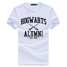 Weiliang Hogwarts Terinspirasi Siswa Magic Pendek T-Shirt untuk Mens American Apparel Kaos Lucu Putih-Intl