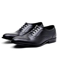 Jual Beli Wetan Shoes Sepatu Pantofel Oxford Pria Bahan Kulit Black Indonesia