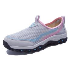 WETIKE Wanita Jala Sepatu Hiking Sepatu Ringan Ukuran Better Eu35-eu41 (abu-abu)-International