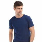 Whats Up Kaos Baju Polos T Shirt O Neck Untuk Karyawan Premium Cotton Biru Navy Di Jawa Barat