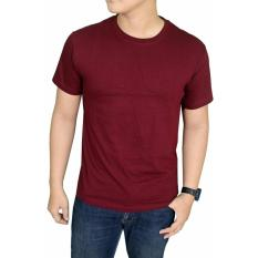 Whats Up Kaos Baju Polos T-shirt O Neck Untuk Karyawan Premium Cotton - MERAH MAROON