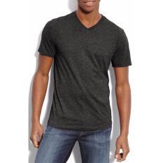 Daftar Harga Whats Up Kaos Baju Polos T Shirt V Neck Untuk Karyawan Premium Cotton Hitam Twotone Whats Up