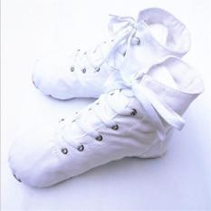 Putih Warna Orang Dewasa Anak Canvas Ballet Senam Latihan Yoga Lembut Sepatu Tari I112-Intl