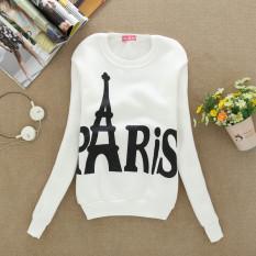 White Hot Penjualan Musim Semi Musim Gugur Wanita Hoodies Casual PARIS Dicetak Olahraga Sweatshirt Pullover Candy Jaket Mantel Pakaian Bersepeda Winter Tops- INTL