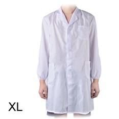 Jas Lab Putih Unisex Dokter Rumah Sakit Medis Seragam M/L/XL untuk Kostum Pesta-Intl