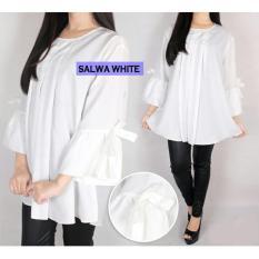 Harga White Salwa Jumbo Blouse Baju Atasan Wanita Bigsize Terbaik