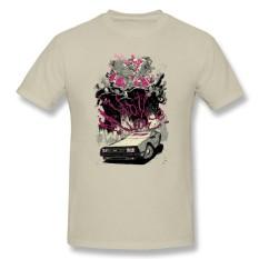 Grosir TERBAIK Kualitas Pria Kaus Besar Meter Kaus Creator Uap Permainan Atasan dengan Hotline Miami Pria Kustom Kaus Pendek krem-Internasional
