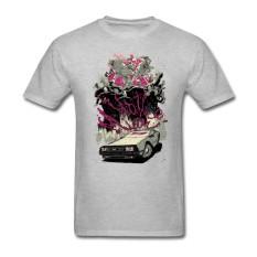 Grosir TERBAIK Kualitas Pria Kaus Besar Meter Kaus Creator Uap Permainan Atasan dengan Hotline Miami Pria Kustom Kaus Pendek abu-abu-Internasional