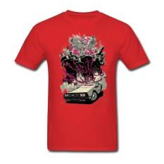 Grosir TERBAIK Kualitas Pria Kaus Besar Meter Kaus Creator Uap Permainan Atasan dengan Hotline Miami Pria Kustom Kaus Pendek merah-Internasional