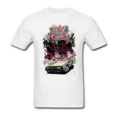 Grosir TERBAIK Kualitas Pria Kaus Besar Meter Kaus Creator Uap Permainan Atasan dengan Hotline Miami Pria Kustom Kaus Pendek putih-Internasional