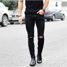 Harga Wikie Fashion 99 Celana Jeans Skinny Navy Pria Asli