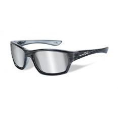 Wiley X Moxy Glasses Grey Silver Flash Lens: Black Streak Ss - intl