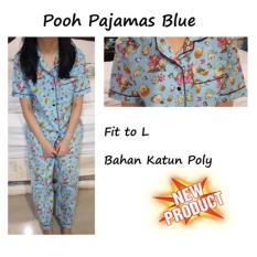 Jual Winnie Piyama Biru Pakaian Tidur Baju Tidur Piyama Wanita Azure Original