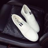 Spesifikasi Poly Urethane Permukaan Siswa Sepatu Slip On Sepatu Pria Putih Dan Harga