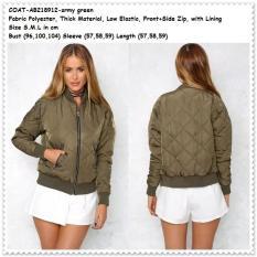 Winter Jaket Army Jacket Coat Bomber Cardigan Baju Wanita Korea Import - Z5vryc