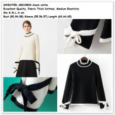Winter Knit Sweater Coat Blouse Pakaian Baju Rajut Wanita Korea Import - Zoj8eb
