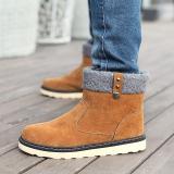 Harga Musim Dingin Pria Hangat Salju Sepatu Kasual Dengan Mewah Pendek Ankle Boots Tinggi Meningkat Karet Pria Cokelat Intl Asli Cyou