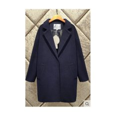Harga Musim Dingin New Woolen Coat Wanita Lengan Yang Longgar Wol Jaket Navy Intl Oem Ori