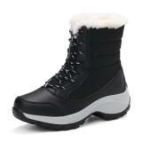 Jual Winter Snow Boots Women Light Weight Plus Cashmere Warm Martin Boots Women Thickened Climbing Hiking Shoes Non Slip Waterproof Boots Intl Murah Tiongkok
